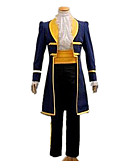 cheap Historical & Vintage Costumes-Prince Fairytale Prince Charming Coat Cosplay Costume Men's Christmas Halloween Carnival Festival / Holiday Yellow+Blue Carnival Costumes Solid Colored