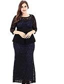 preiswerte Damen Kleider-Damen Hülle Kleid Solide Maxi Hohe Hüfthöhe