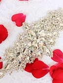 cheap Ballroom Dance Wear-Acrylic Wedding Special Occasion Anniversary Birthday Party / Evening Sash With Rhinestone Appliques Sashes