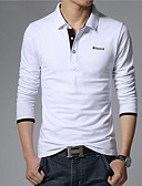 cheap Men's Polos-Men's Business / Casual / Active Cotton Polo - Solid Colored Shirt Collar / Long Sleeve