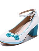 preiswerte Herren Pullover-Damen Schuhe Lackleder Frühling / Herbst Komfort / Schuhe für das Blumenmädchen / Tiny Heels für Teens High Heels Walking Blockabsatz