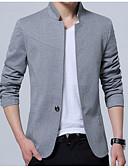 olcso Férfi pólók-Üzlet Egyszerű Alkalmi Üzleti alkalmi Állógallér Vékony Férfi Extra méret Blézer-Egyszínű / Hosszú ujj