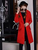 cheap Women's Coats & Trench Coats-Women's Cotton Coat - Solid Colored Shirt Collar