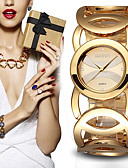 cheap Quartz Watches-Women's Sport Watch Wrist Watch Quartz 30 m Chronograph Creative Shock Resistant Metal Band Analog Charm Luxury Sparkle Multi-Colored - Black Rose Gold Gold / White One Year Battery Life / Large Dial