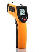 baratos Roupas Íntimas e Meias Masculinas-termômetro infravermelho gm320 -50-330 ℃ abs lcd display aaa bateria