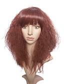 abordables Relojes Brazalete-Pelucas sintéticas Kinky Curly Pelo sintético Peluca afroamericana Rojo Peluca Mujer Larga Sin Tapa