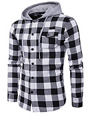 abordables Camisas de Hombre-Hombre Fin de semana Delgado Sudadera - Estampado, Multicolor Con Capucha