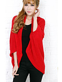 cheap Women's Sweaters-Women's Long Sleeves Cardigan - Solid Stand