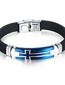 cheap Men's Hoodies & Sweatshirts-Men's Bracelet - Titanium Steel Personalized, Simple Style, Fashion Bracelet Black / Blue For Birthday / Gift / Daily