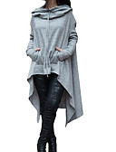 cheap Women's Hoodies & Sweatshirts-Women's Going out Loose Hoodie - Color Block / 3D Print / Spring / Fall / Sporty Look
