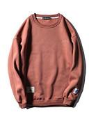 cheap Men's Hoodies & Sweatshirts-Men's Long Sleeves Sweatshirt - Solid Colored Letter Round Neck