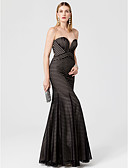 cheap Evening Dresses-Mermaid / Trumpet Sweetheart Neckline Floor Length Jersey Cocktail Party / Prom / Formal Evening Dress with Pleats by TS Couture®