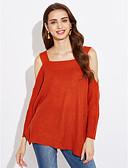 abordables Jerséis de Mujer-Mujer Vintage Pullover - Un Color