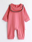preiswerte Mode für Mädchen-Baby Mädchen Einzelteil Volltonfarbe Baumwolle Frühling/Herbst Langarm Rosa
