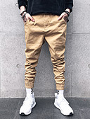 cheap Men's Pants & Shorts-Men's Street chic Plus Size Slim Sweatpants Chinos Pants - Solid Colored