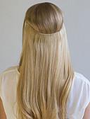 お買い得  マキシドレス-Flip In 人間の髪の拡張機能 クラシック 人毛エクステンション レミーヘア人毛 Halo ヘアエクステンション 女性用 - ミディアムブラウン ストロベリーブロンド / ブリーチブロンド ベージュブロンド /  / ブリーチブロンド