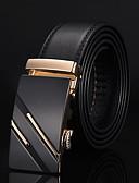baratos Cintos de Moda-Homens Trabalho / Activo / Básico Cinto para a Cintura Sólido