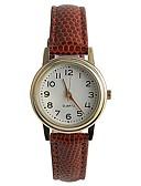 cheap Quartz Watches-Women's Wrist Watch Japanese / PU Band Casual / Fashion / Elegant Brown / One Year / Tianqiu 377