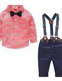 ieftine Seturi Îmbrăcăminte Băieți-0-12 Luni Băieți Buline / Alte Bumbac / Poliester Set Îmbrăcăminte Albastru piscină