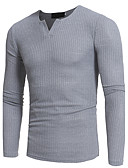 cheap Men's Sweaters & Cardigans-Men's Weekend Long Sleeve Slim Long Pullover - Solid Colored Round Neck