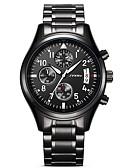 cheap Luxury Watches-SINOBI Men's Quartz Simulated Diamond Watch Wrist Watch Military Watch Sport Watch Japanese Calendar / date / day Water Resistant / Water