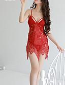 זול בגדי שינה והלבשה תחתונה לנשים-בגדי ריקוד נשים סקסית אולטרה סקסי Nightwear סרוג