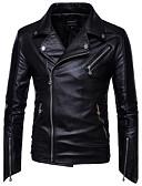 cheap Men's Jackets & Coats-Men's Slim Jacket - Solid Colored, Basic