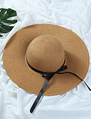 cheap Women's Dresses-Women's Hat Straw Hat Sun Hat - Solid Colored Pure Color