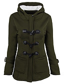 cheap Women's Downs & Parkas-Women's Plus Size Going out Street chic Long Padded - Solid Colored, Pure Color Hooded