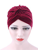 olcso Női kalapok-Női Tiszta szín Nyomtatott Pamut, Kalap - Széles karimájú kalap