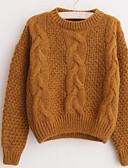 preiswerte Damen Pullover-Damen Baumwolle / Mohair Langarm Pullover - Solide / Herbst