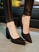 preiswerte Etuikleider-Damen Schuhe Leder PU Winter Frühling Komfort Pumps High Heels für Normal Schwarz Rot Rosa