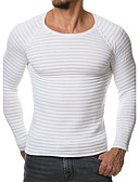 cheap Men's Tees & Tank Tops-Men's Sports / Work / Weekend Active / Chinoiserie Long Sleeve Slim Pullover - Solid Colored Round Neck