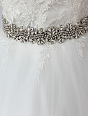 cheap Watch Accessories-Satin / Tulle Wedding / Special Occasion / Anniversary Sash With Rhinestone / Imitation Pearl / Appliques Sashes