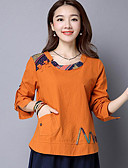 halpa Naisten kaksiosaiset asut-Naisten Puuvilla Kineseria T-paita, Kirjailu