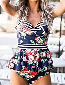 זול 2017ביקיני ובגדי ים-נועזת פרחוני, מתנפנפת / גב חשוף - טנקיני Bandeau כתפיה בגדי ריקוד נשים