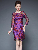 cheap Women's Dresses-Women's Going out Sheath Dress - Solid Colored / Embroidered Print