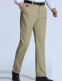 זול מכנסיים ושורטים לגברים-בגדי ריקוד גברים מידות גדולות כותנה ישר / צ'ינו מכנסיים אחיד / עבודה