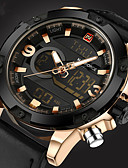 cheap Sport Watches-Men's Wrist Watch Water Resistant / Water Proof Creative Genuine Leather Band Analog Luxury Casual Fashion Black / Orange / Brown - White Black Yellow Two Years Battery Life / Stainless Steel
