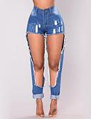 preiswerte Damen Hosen-Damen Street Schick Eng / Jeans Hose - Ripped, Solide / Sexy
