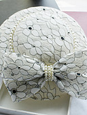 cheap Gloves-Imitation Pearl / Leather / Lace Fascinators / Hats with 1 Wedding / Special Occasion / Birthday Headpiece