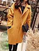 cheap Women's Coats & Trench Coats-Women's Cotton Coat - Solid Colored Shirt Collar