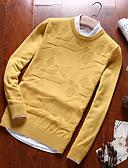 povoljno Muške majice i potkošulje-Muškarci Dugih rukava Pullover Jednobojni Okrugli izrez