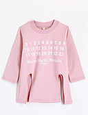 cheap Girls' Clothing-Girls' Blouse, Cotton Fall Long Sleeves Blushing Pink