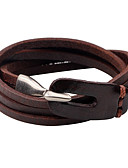 cheap Men's Swimwear-Men's / Women's Leather Bracelet - Leather Personalized, Simple Style Bracelet Black / Brown For Casual / Going out