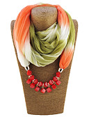 cheap Chic Chiffon Scarves-Women's Polyester Infinity Scarf - Rainbow Print