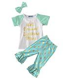 cheap Men's Ties & Bow Ties-Girls' Polka Dot Clothing Set, Cotton Summer Short Sleeves Dot Light Green