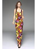 preiswerte Damen Kleider-Damen Schlank Lose Kleid - Druck Maxi Tropisches Blatt