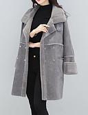 cheap Women's Coats & Trench coats-Women's Cute Punk & Gothic Street chic Plus Size Fur Coat-Solid Colored Peter Pan Collar