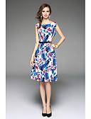 baratos Vestidos de Mulher-Mulheres Chique & Moderno Evasê Vestido Floral Altura dos Joelhos